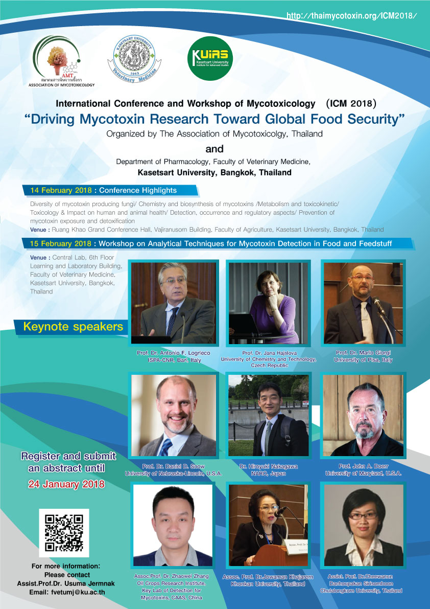 "International Conference and Workshop of Mycotoxicology (ICM2018) ""Driving Mycotoxin Research Toward Global Food Security"""