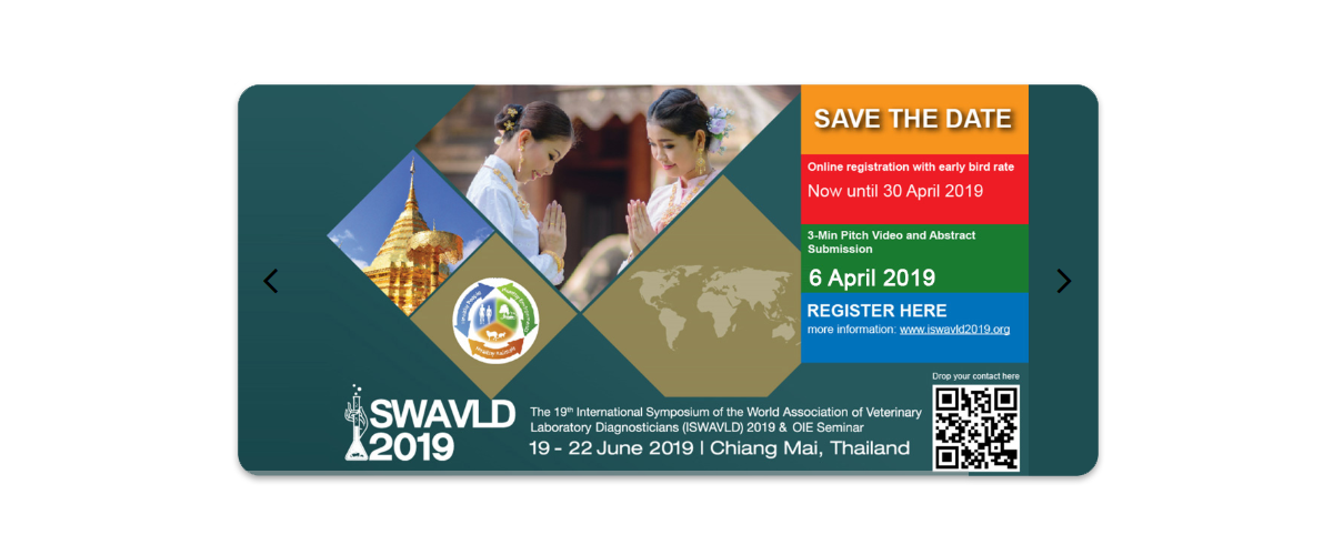 The 19th International Symposium of World Association of Veterinary Laboratory Diagnosticians (ISWAVLD 2019)